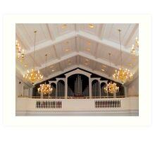 Pipe Organ Of Broadus Chapel Art Print