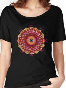 Cosmic Eye Mandala Tshirt Women's Relaxed Fit T-Shirt