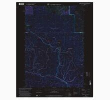 USGS Topo Map Oregon Whiskey Mountain 282067 1999 24000 Inverted One Piece - Long Sleeve