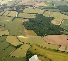 Gliding in a thermal over England. by sandyprints