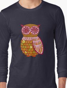 Retro Owl Shirt Long Sleeve T-Shirt