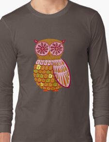 Retro Owl Shirt Long Sleeve T-Shirt