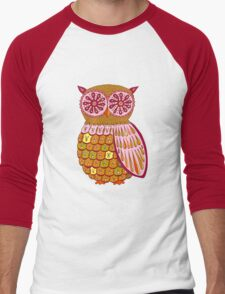 Retro Owl Shirt Men's Baseball ¾ T-Shirt