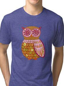 Retro Owl Shirt Tri-blend T-Shirt