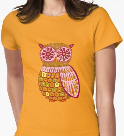Retro Owl Shirt Womens Fitted T-Shirt