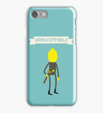 Earl of Lemongrab Unacceptable iPhone Case/Skin