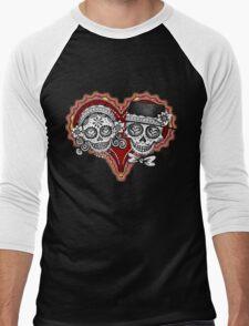 Sugar Skulls Couple Tshirt Men's Baseball ¾ T-Shirt