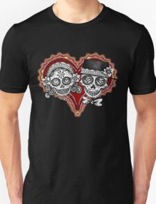 Sugar Skulls Couple Tshirt T-Shirt