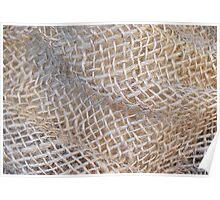 Texture of Burlap Poster