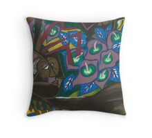 lily flesh Throw Pillow