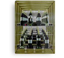 A rack of wine. Metal Print