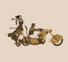 Steam Punk T-shirt - Bonnie and Clyde by Pete Katz