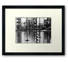 Pond sculptures. La Défense ,Paris  Framed Print