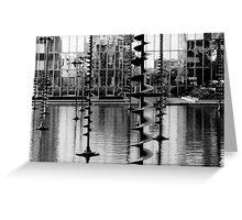 Pond sculptures. La Défense ,Paris  Greeting Card