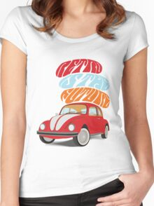 VW Beetle - Retro Is the Future Women's Fitted Scoop T-Shirt