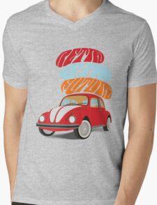VW Beetle - Retro Is the Future Mens V-Neck T-Shirt