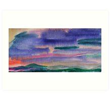 Wet Sunset Art Print