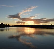 Sunset Over Silver Lake by Tracy Wazny
