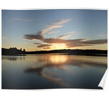 Sunset Over Silver Lake Poster