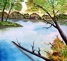 The river bank: Water Color by sricha