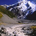 Mount Sefton and the Hooker River by Alex Cassels