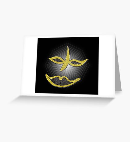 Gold Face Greeting Card