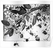 Theodor Kittelsen Paa kirsebaergrenen on cherry branch Poster