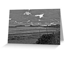 Rhoscolyn Beach in Winter Greeting Card