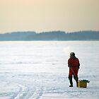 Ice fisher by Toni Holopainen