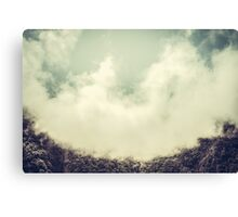 Clouds in the mountains IV Canvas Print