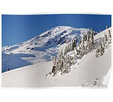 Winter at the Mountain - Mt. Rainier N.P. Poster