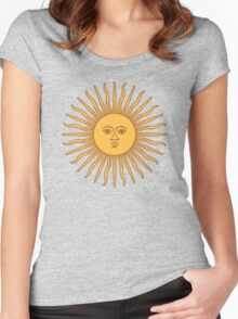 Funny Awesome Sun Women's Fitted Scoop T-Shirt