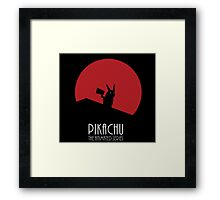 Pikachu - The animated Series - Batman mashup V2 Framed Print