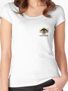 EVE University Small Logo - Light Women's Fitted Scoop T-Shirt