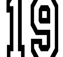 19, TEAM SPORTS, NUMBER 19, NINETEEN, NINETEENTH, Competition,  by TOM HILL - Designer