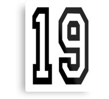 19, TEAM SPORTS, NUMBER 19, NINETEEN, NINETEENTH, Competition,  Metal Print