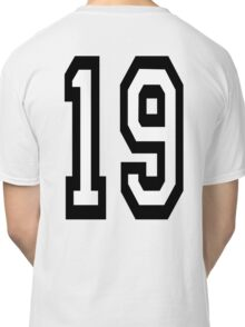 19, TEAM SPORTS, NUMBER 19, NINETEEN, NINETEENTH, Competition,  Classic T-Shirt