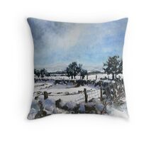 Easter snow in Skipton Throw Pillow