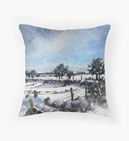 Easter snow in Skipton Throw Pillow