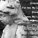 For Lelia - Angel statue and verse by Betty Northcutt