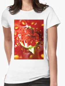 Strawberry mood Womens Fitted T-Shirt