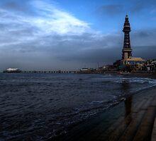 Blackpool North Pier & Tower by Rob Hawkins