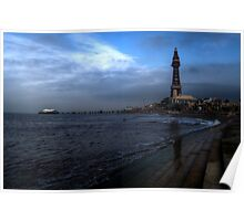 Blackpool North Pier & Tower Poster