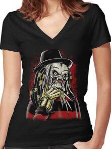 Fredator Women's Fitted V-Neck T-Shirt
