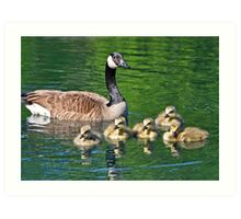 Mother and Chicks Art Print