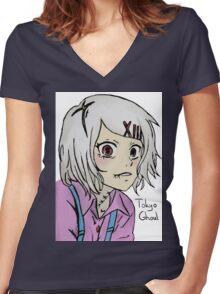 Tokyo Ghoul - Juuzou Suzuya Women's Fitted V-Neck T-Shirt