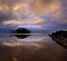 The Tides Out At West Pier! by Leon Ritchie