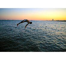 Jumping into the Marmara Photographic Print