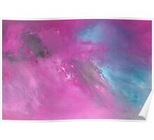 Abstract skyscape Magenta Poster