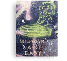 Blimpin' Ain't Easy (close) Canvas Print